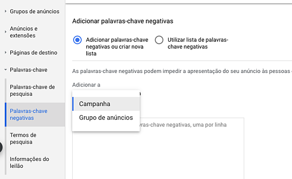 Palavras-Chave Negativas2