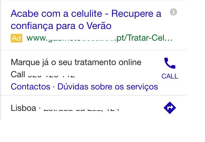 exemplo sitelink mobile