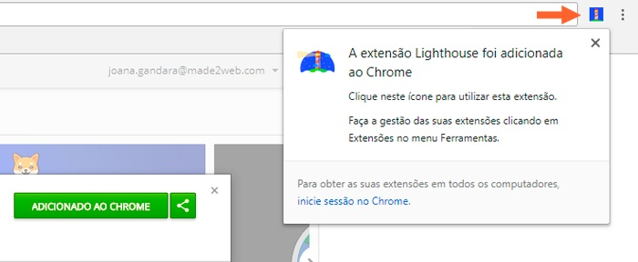 lighthouse-google-chrome-como-instalar-extensao-made2web