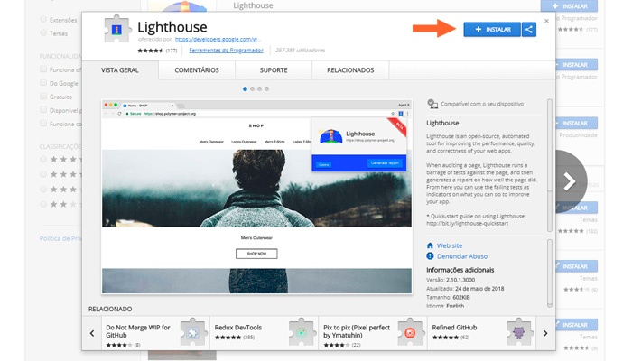 lighthouse-google-chrome-como-instalar-made2web