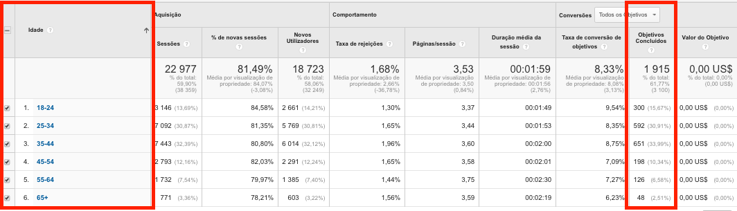 publico alvo analytics