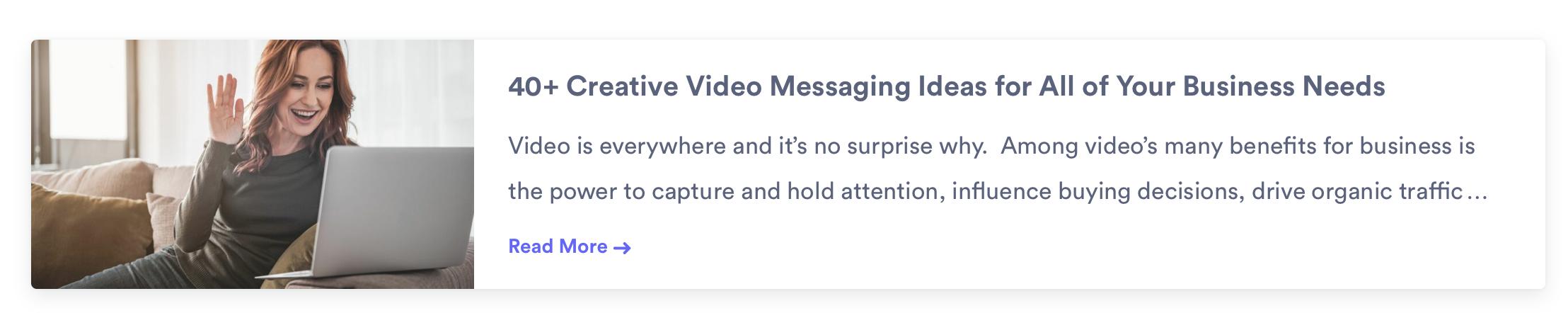 video messaging ideas from vidyard