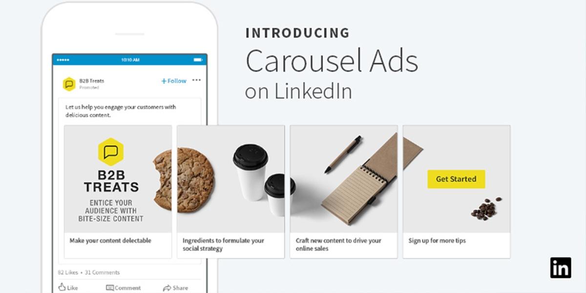 Anúncios em Carrossel: o novo formato que vai revolucionar os seus LinkedIn Ads