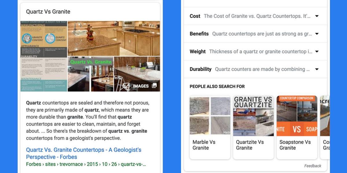 Google™ lança novo formato de featured snippet para facilitar a comparação de tópicos